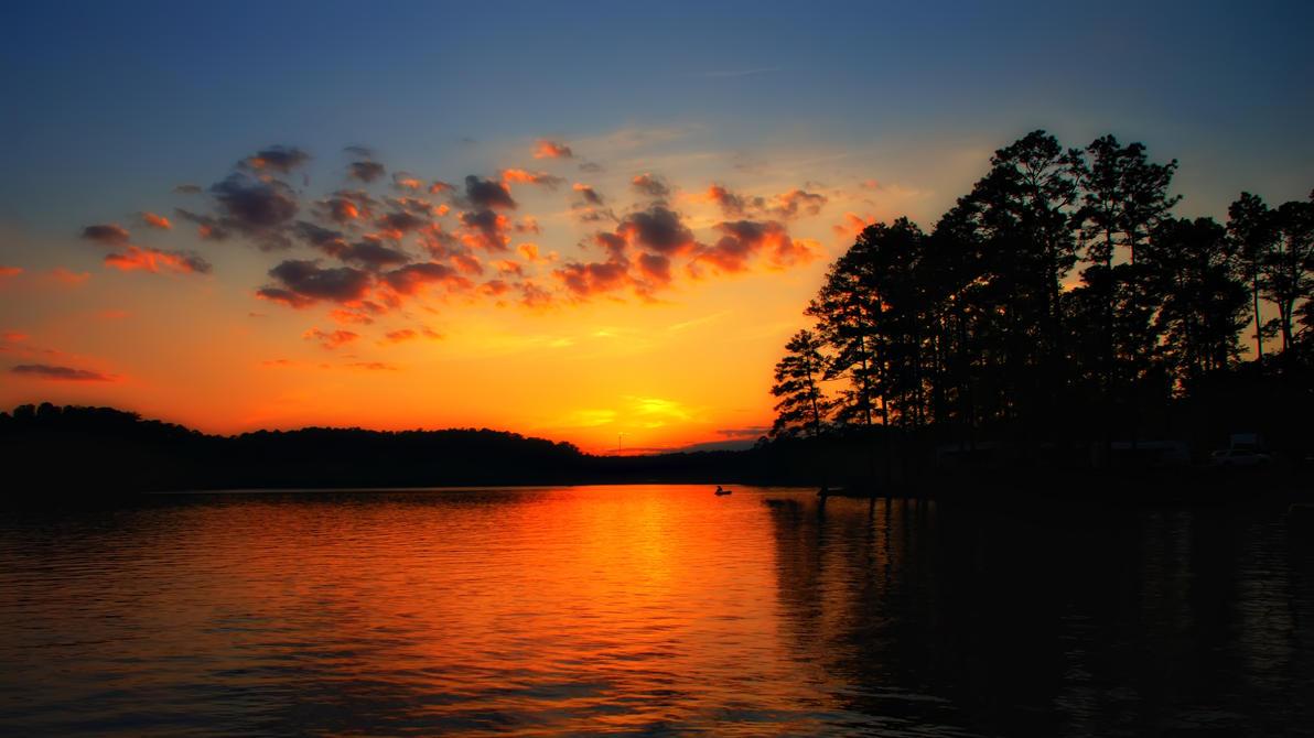 Lake Sunset by kreativEVOLUTION