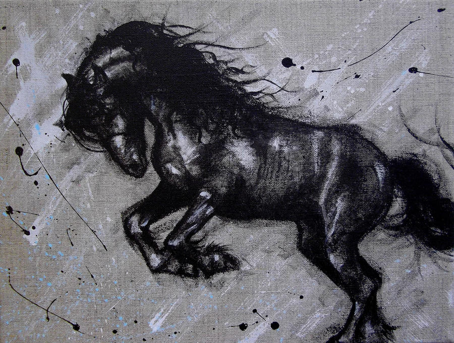 Friesian Horse Paintings Friesian Horse by