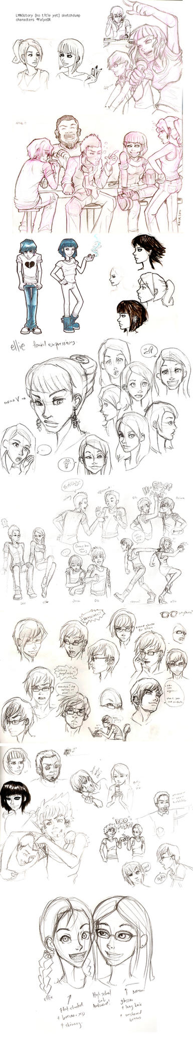 Massive Sketchdump 1 by tropical-angel