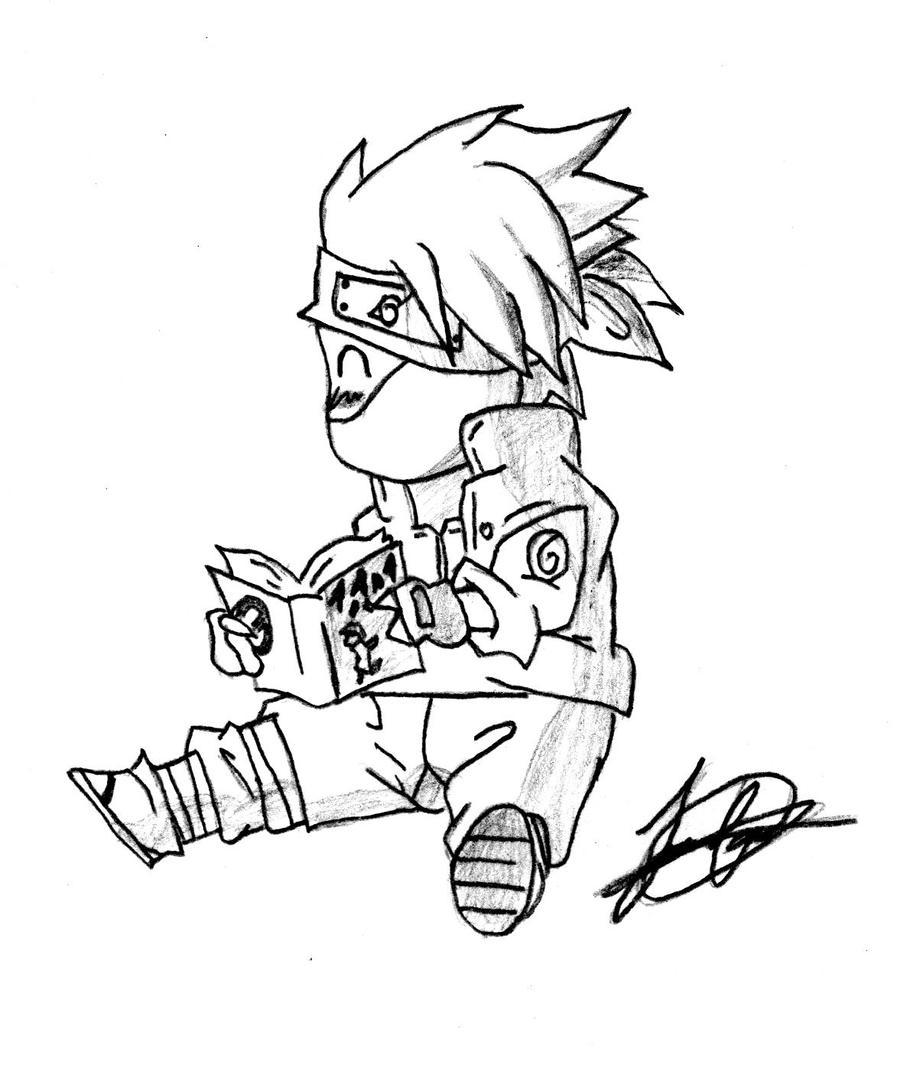 How To Draw Chibi Kakashi Step By Step