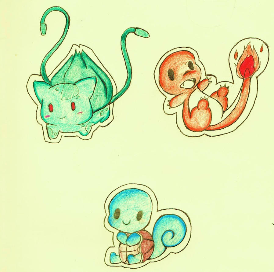 Pokemon: starter chibis by Someone-that-is-me