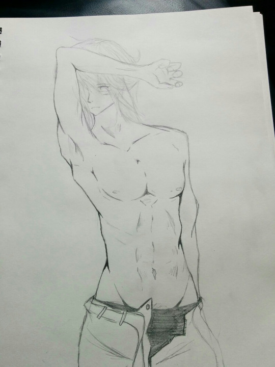 male model sketch by Someone-that-is-me