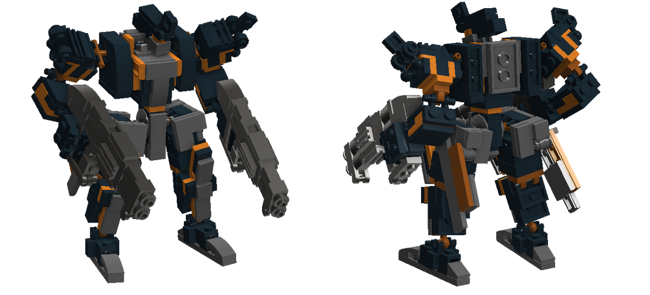 Bipedal Front Mission-type mecha Version 3 by TheMugbearer