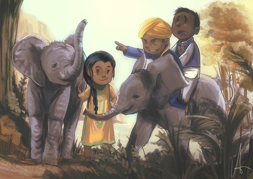 Elephant Frenzy by ayubee
