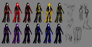 Sith female armor sketch 1