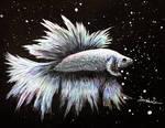 Betta Fish Painting by YukilapinBN