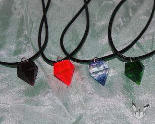 Gem Necklaces by YukilapinBN