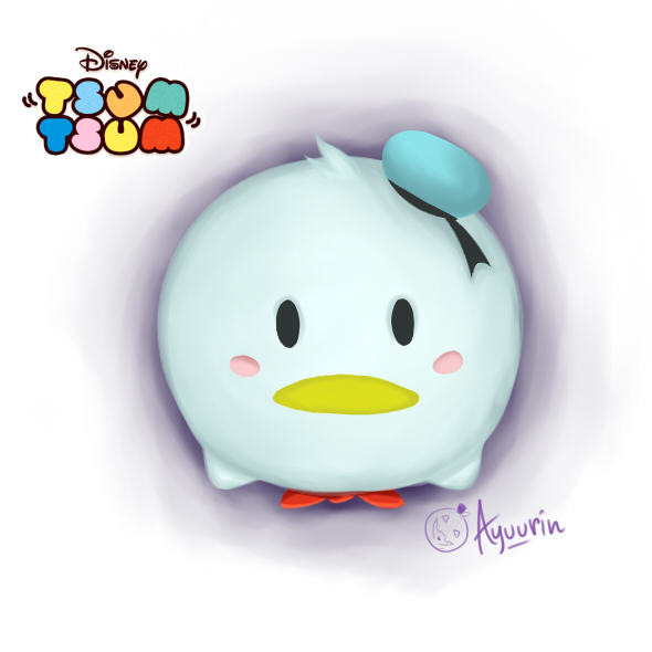 how to draw donald duck tsum tsum