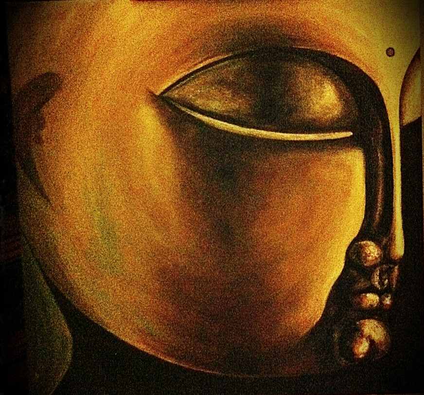 Oil painting. Buddha by liza77x on DeviantArt
