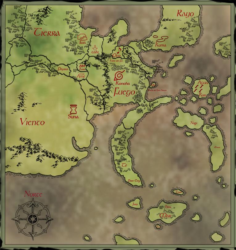 Naruto manga map