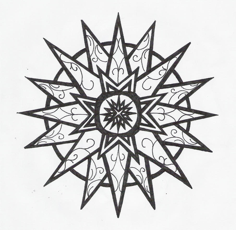 Star Flower Drawing Star Tattoo Designs