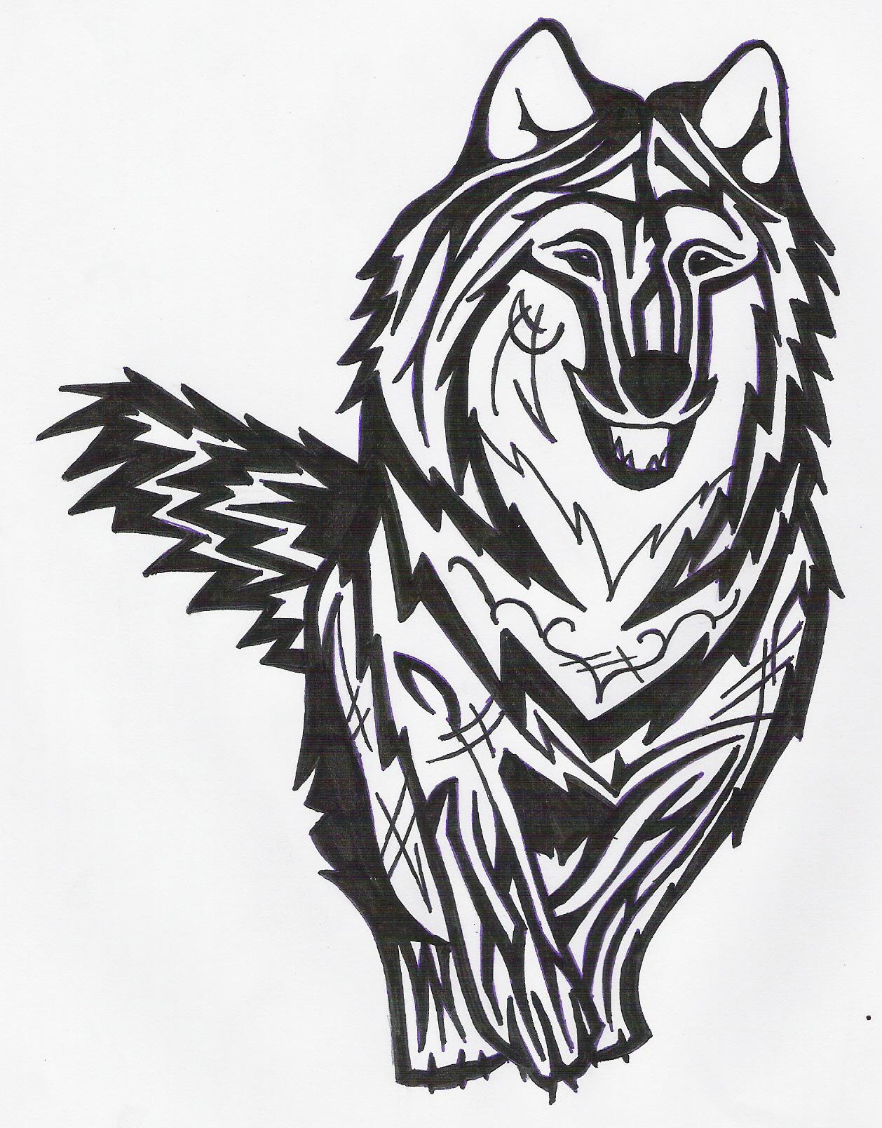 running wolf tattoo by designerdragon on deviantart. Black Bedroom Furniture Sets. Home Design Ideas