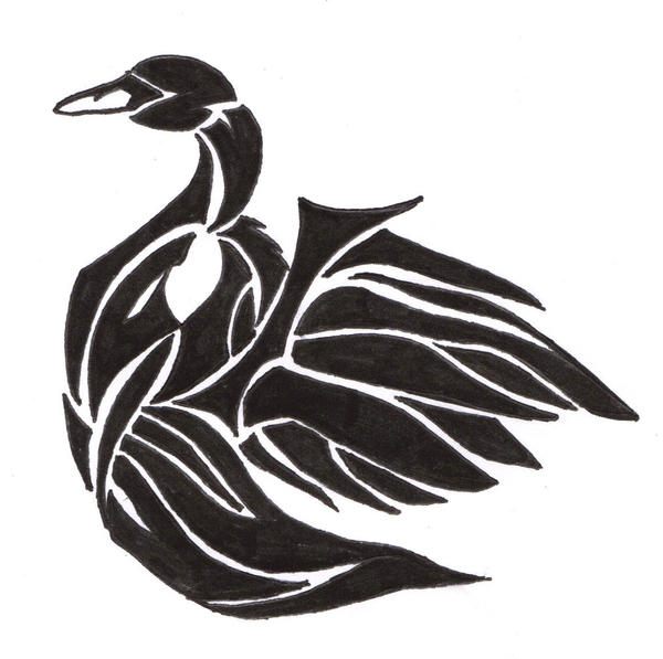 black swan tattoo images. lack swan tattoo on back.