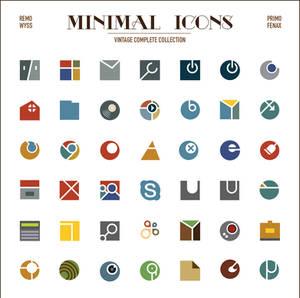 [icon set] Minimal Icon Collection [vintage compl]