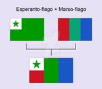 MarsEsperantoFlag