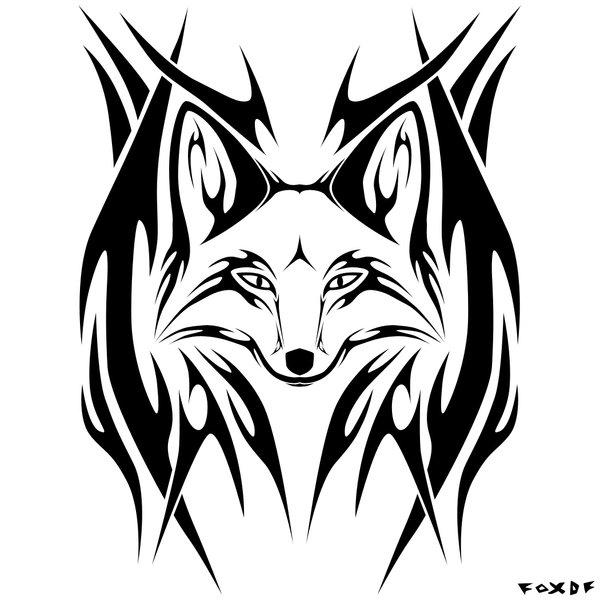 Foxtwist tribal by fullmetal fox on deviantart for Cool fox drawings