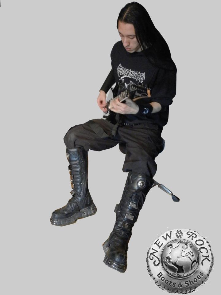 New rock boots custom model 169 vempire 666 by vampire for New model boot