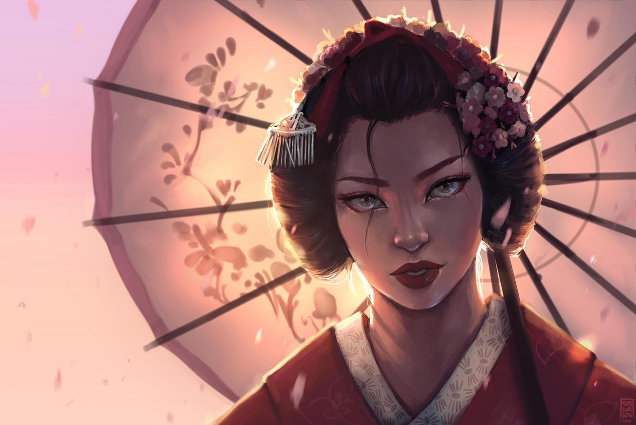 Geisha by Astri-Lohne