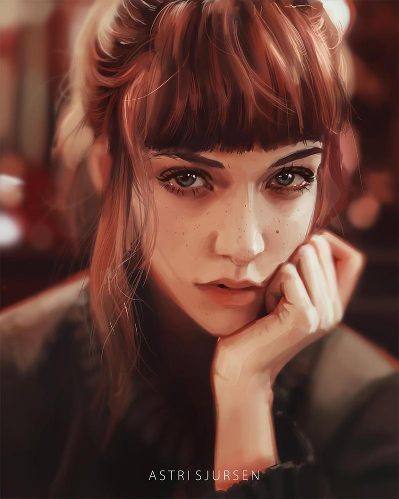 Portrait Study #9 by AstriSjursen