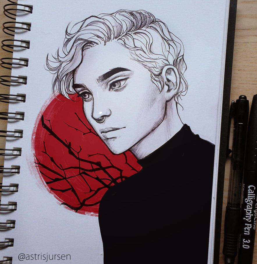 Inktober #17 by AstriSjursen