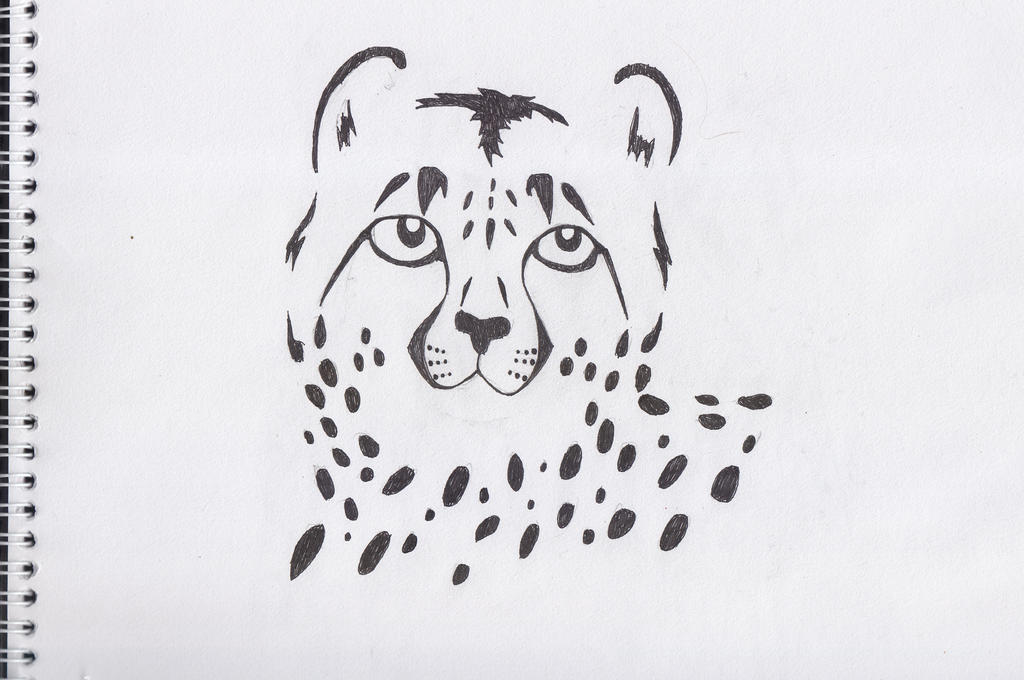Cheetah - Line art by Dante6499