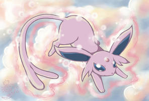 COMMISSION: Floating Espeon by meriimerodii