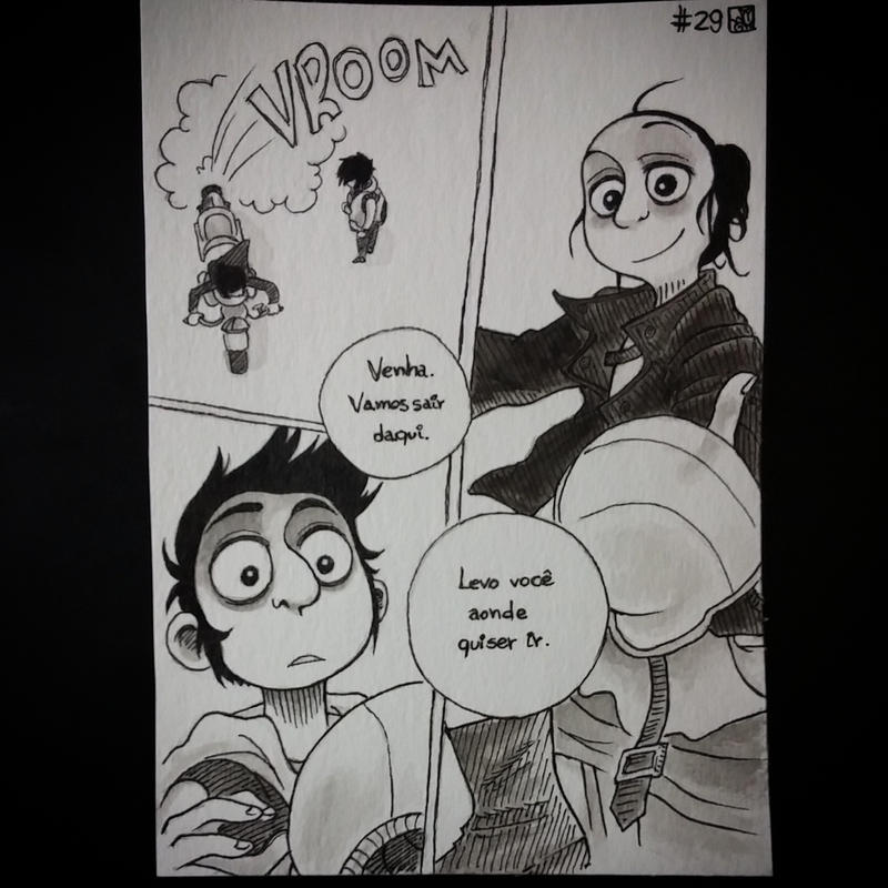 InkTober Day 29 --- Koko and Faron. by meriimerodii