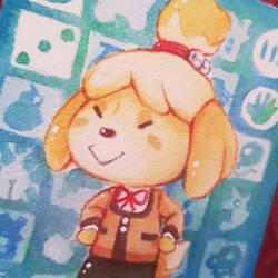 Isabelle Amiibo Card.