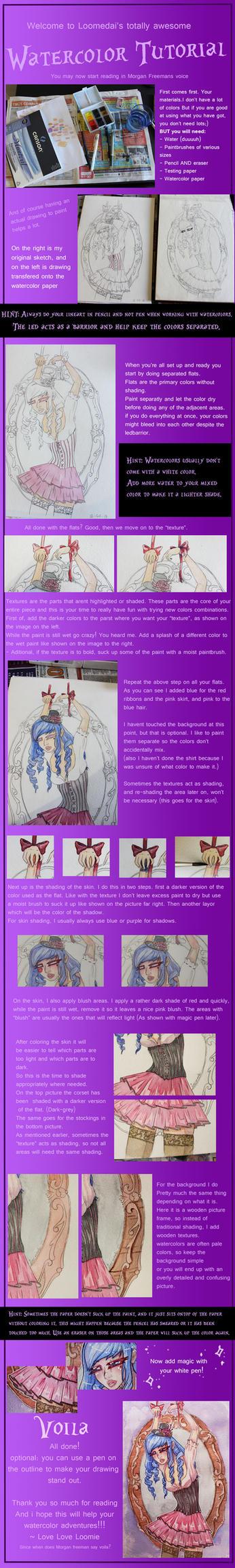 Loomie's watercolor tutorial by Loomedai