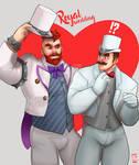 Bowser and Mario - Royal Wedding