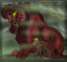 .:Ahadi's Youngest:. by Wolf-Chalk