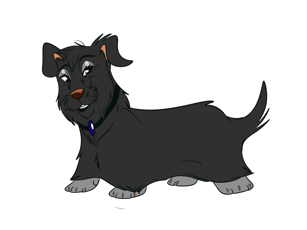 SoW Adoptable - Gray Terrier Mix Girl by Wolf-Chalk