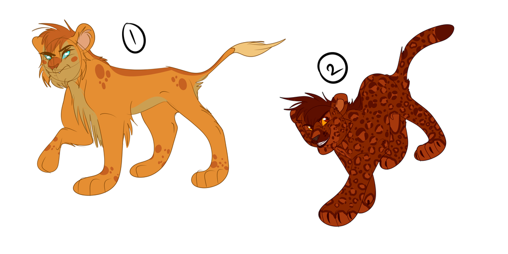 Big Cat Adoptables - OPEN by Wolf-Chalk