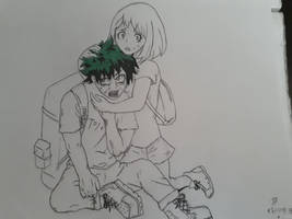 Midoria and Uraraka