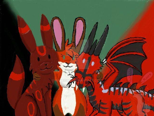 Red, Rai, and Pat by Rakeisha