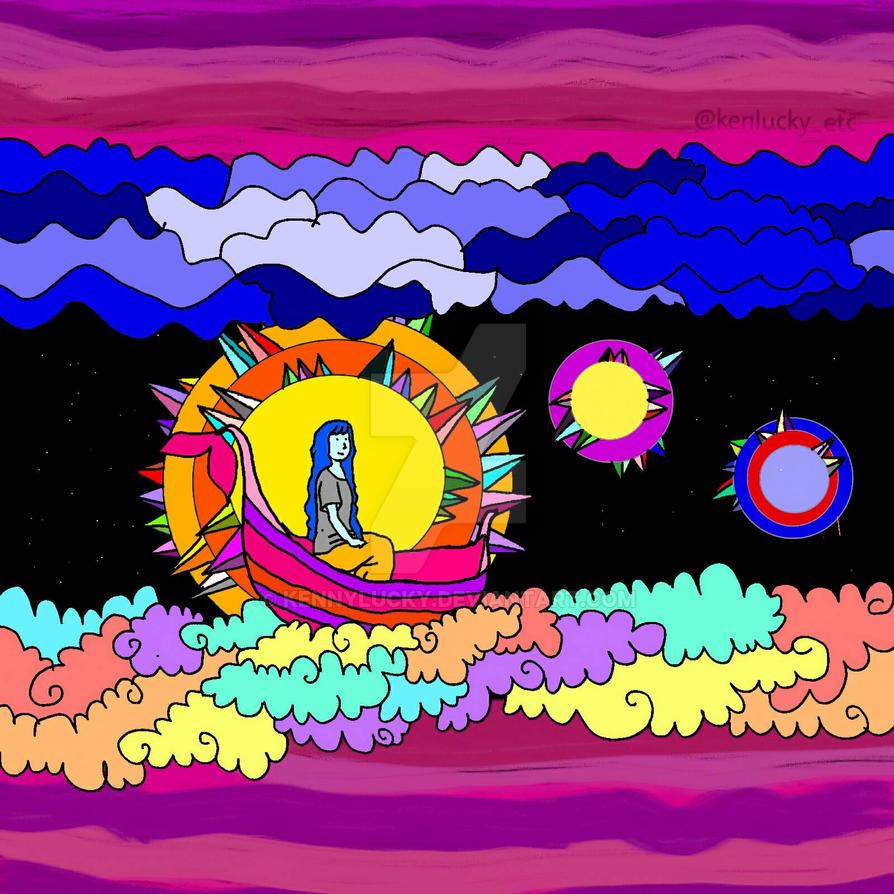 Night Trip in the Sky by kennylucky