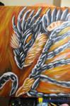 Hellrise Dragon acrylic paint on Canvas