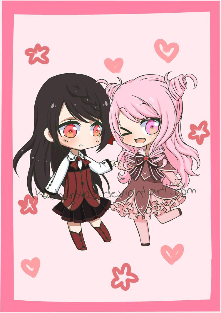 Kurochii and Keiko by Kachanx23