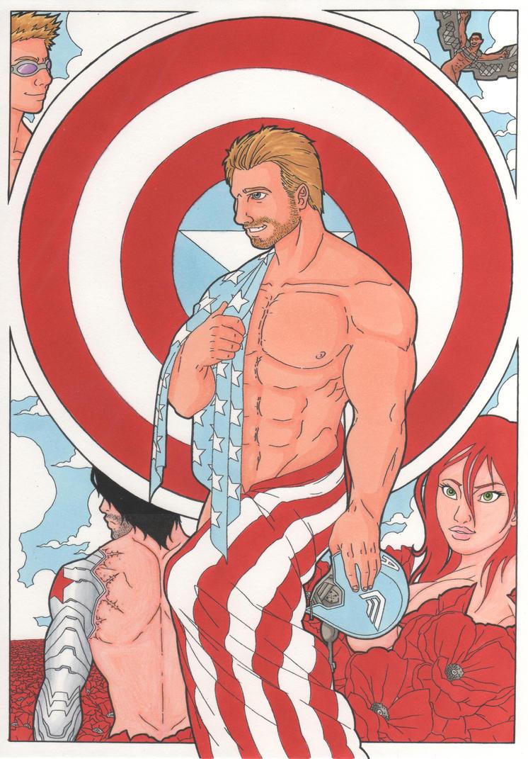 Captain AmeriPHWOAR! by MohawkRex