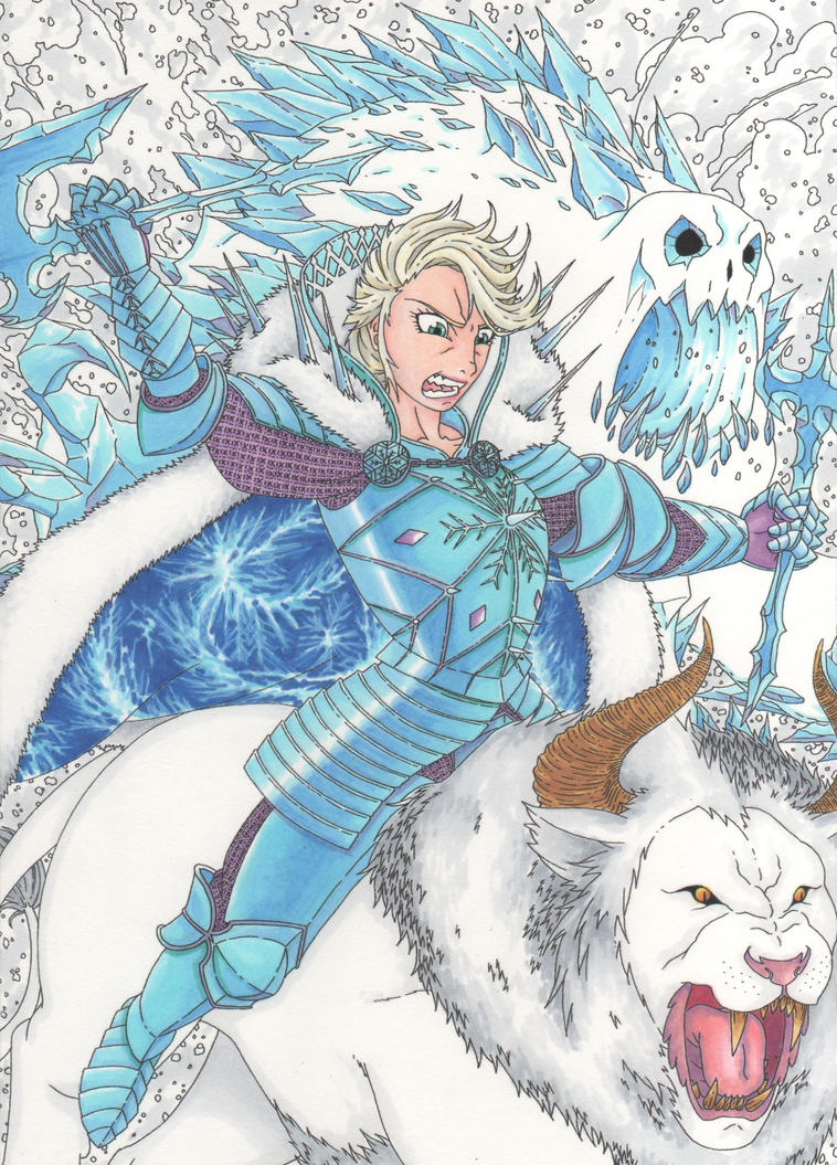 Elsa the avalanche! by MohawkRex