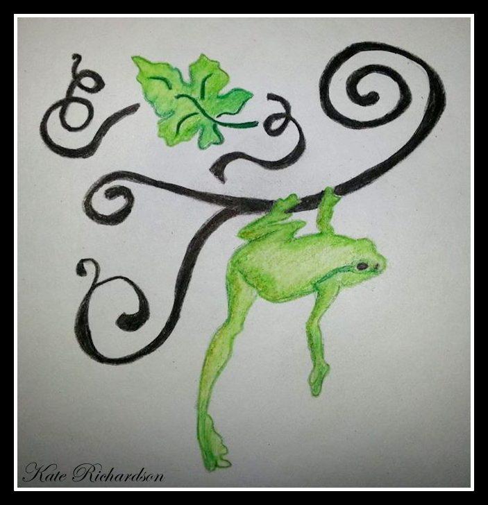 tattoo design of tree frog on vine by designkreations on deviantart. Black Bedroom Furniture Sets. Home Design Ideas