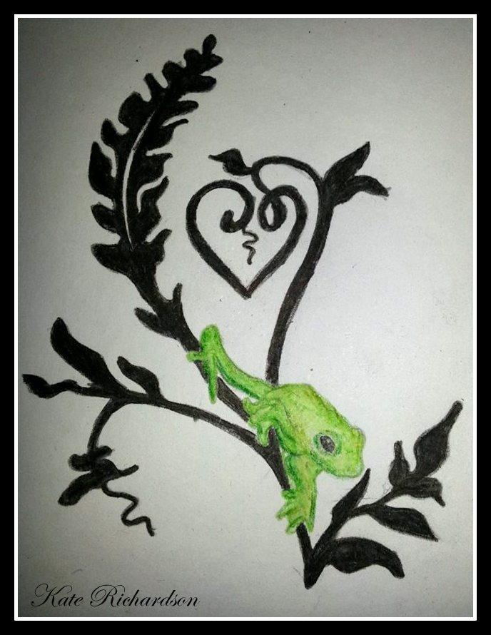 tattoo design of tree frog on vine by purple dragonfly art on deviantart. Black Bedroom Furniture Sets. Home Design Ideas