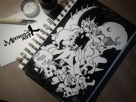 Inktober #3 Chaos by MirrorsArt