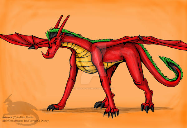 Jake long in omega form-color by Ravenfire5