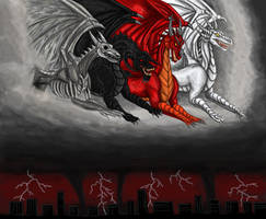 Dragons of the Apocalypse by BlueRavenfire