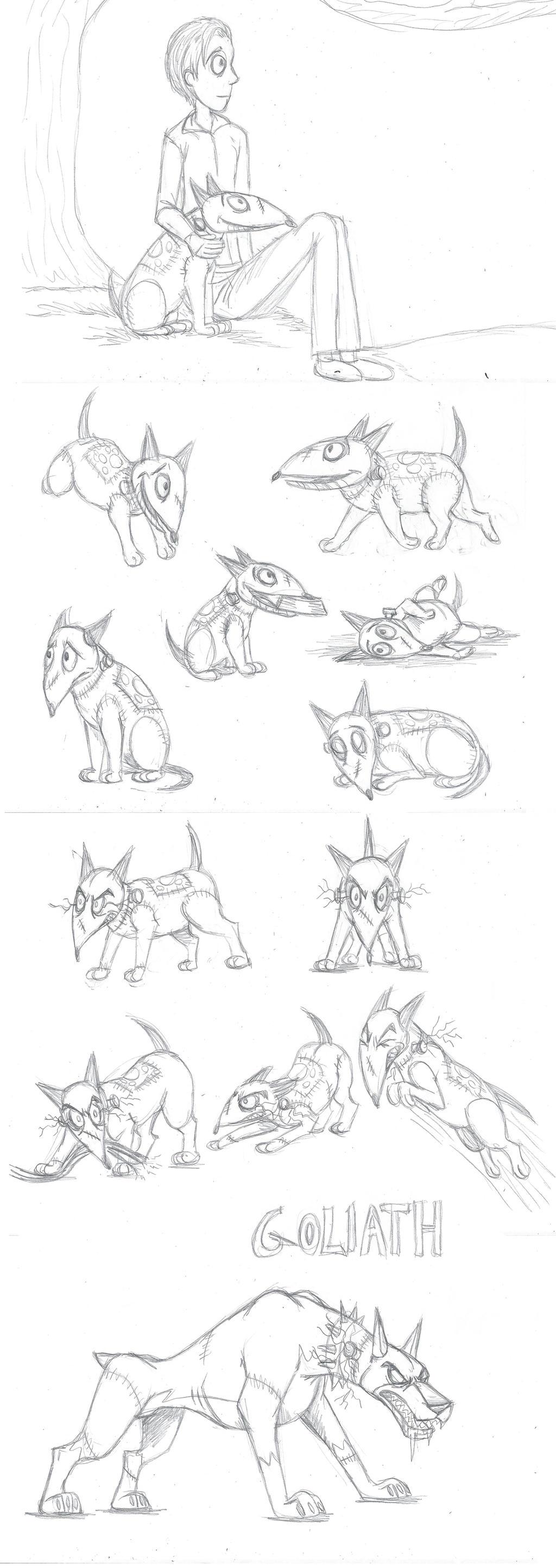 Frankenweenie sketch  dump by Ravenfire5