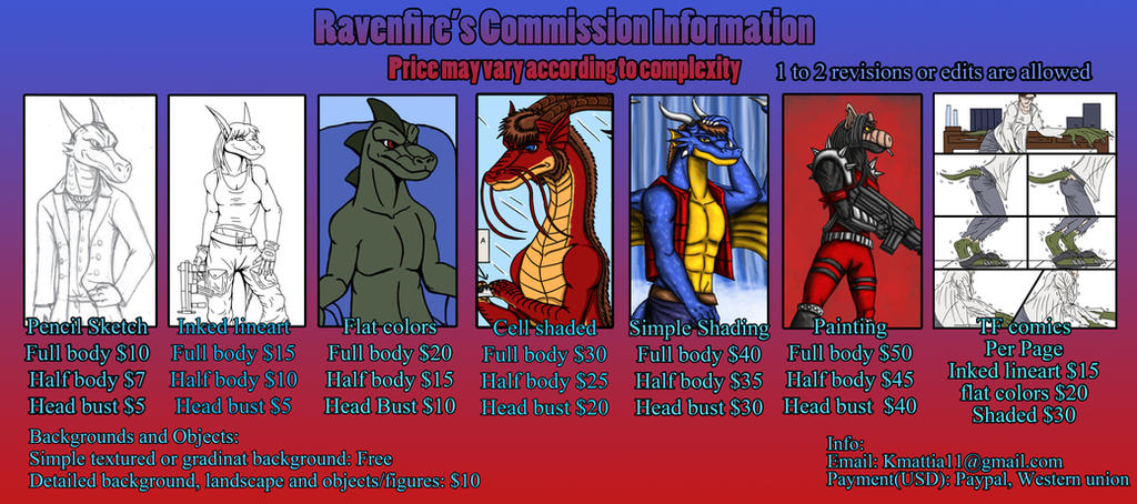 Commission Info sheet by BlueRavenfire