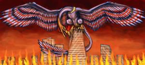 Avian kaiju Ravenfire