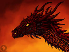 Lave fire dragon