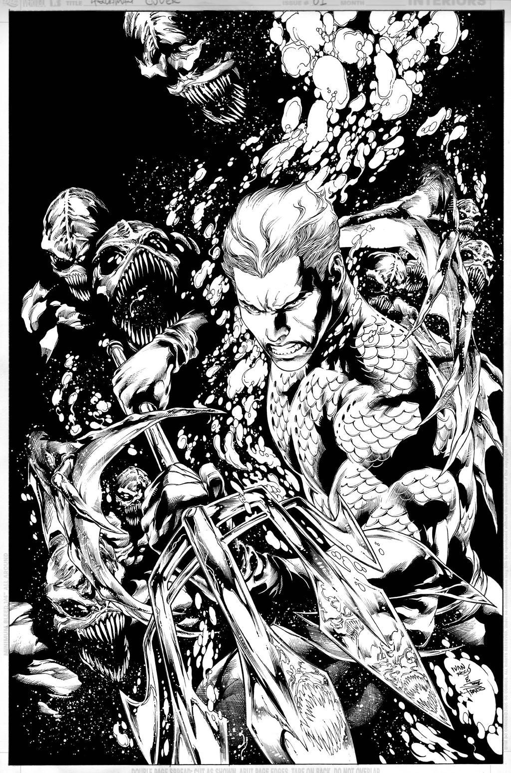 AQUAMAN Issue 01 COVER by JoePrado2010